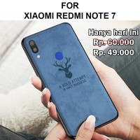 Deer case Xiaomi Redmi Note 7 Leather Softcase Back Cover Motif Rusa