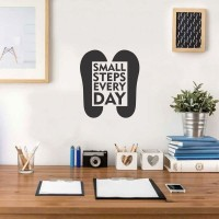 Wall Sticker A4 Quotes Small Steps Every Day Stiker Cutting Sticker