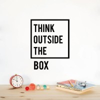 Wall Sticker A4 Quotes Think Outside The Box Stiker Cutting Sticker