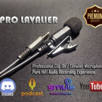 Pro Lavalier Professional Hi-Fi Clip On Condenser Microphone