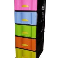 ( by gojek grab ) lemari plastik 5 susun xenia