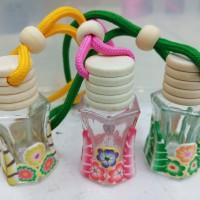 botol kosong parfum mobil gantung motif lucu unik ruangan aromaterapy