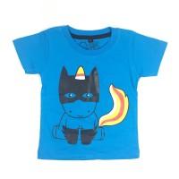 Kaos Anak Anak Biru   L048 Superhero Tee by Little Jergio