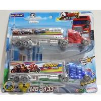 Mainan mobil truck trailer paket 2 mobil - MAXSTAR MB-133