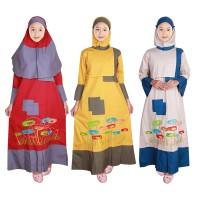 Baju Gamis Anak Warna Fayrany FGW-011 size 6 - 15