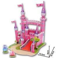 Mainan Edukasi PUZZLE 3D Istana Pink anak menjauhkan dari Gadget