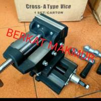 Ragum Cross 4inch 4 inch inci Catok Silang Bench cros Vise mesin bor