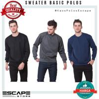 Sweater Polos Basic. Jaket Polos. Sweater Distro. Cotton Fleece