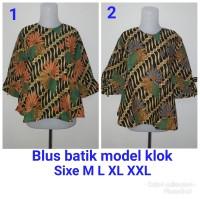 Blus batik klok (motif parang kencana)