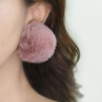 Anting Korea Sweet PomPom Earrings NOV049