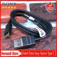 Kabel Data Sony Xperia XZ Premium Original 100% Fast Charging type C