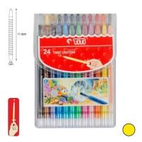 Crayon Putar TiTi TI-CP-24T / 24 Warna / Colors