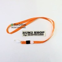 Tali Gantungan ID Card / Tali Badge ID Nylon Hook Plastik - ORANGE