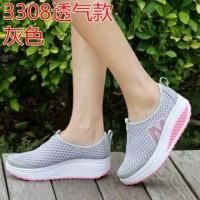 Sepatu Sneakers Slip On Wanita Jaring Jala M untuk Jalan Kerja JR19