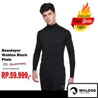 PROMO !! Baselayer Training Waldos Black Plain