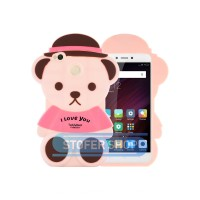 3D Case Xiaomi Redmi 4x Softcase 4D Karakter Boneka Bear