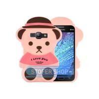 3D Case Samsung Galaxy J1 Ace softcase 4D Karakter Boneka Teddy Bear