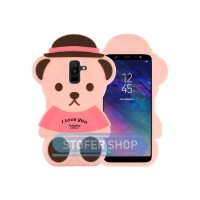 3D Case Samsung A6 Plus softcase 4D Karakter Boneka Teddy Bear a6+