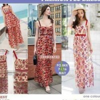 PREMIUM RED FLOWERS DRESS BANGKOK