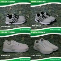 Sepatu Sport Casual Adidas Neo Zoom Running Grade Ori Pria Laki - Abu