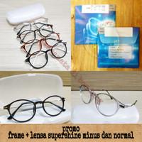kacamata frame minus anti radiasi oval kecil ( frame + lensa )