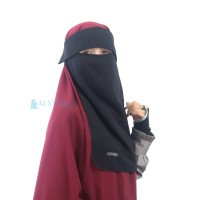 Alsyahra Flap Niqab Bandana Poni 5 in 1 Woolpeach Premium