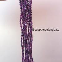 batu kecubung 4mm amethyst ungu akik alam aksesoris fashion craft
