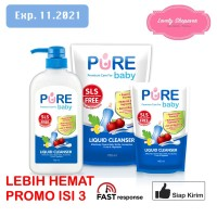 PUREBABY PURE BABY LIQUID CLEANSER 450 ML 450ML REFILL ISI 3