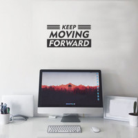 Wall Sticker A4 Quotes Keep Moving Forward Stiker Cutting Sticker