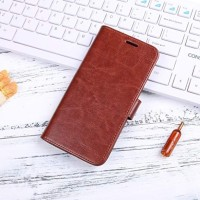 Xiaomi Mi A2 Lite Redmi 6 Pro Lite Flip Cover Wallet Leather Case 1319 - Hitam
