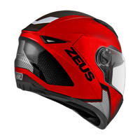 Helm Full Face zeus 811 Fluor Red AL6 Black, not nolan, airoh, agv,