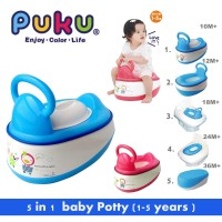 Puku Baby Potty (5in1)10month-2year 17403 Pispot Anak Multifungsi