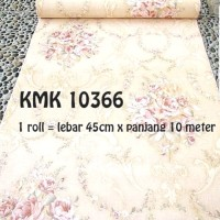 Wallpaper Bunga Shaby Cream • Wallpaper Dinding 10M x 45Cm