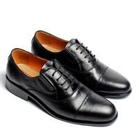 sepatu pantofel asli kulit model brogue Oxford Dan derby