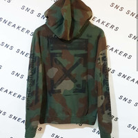 Hoodie Off White SS19 Stencil Camo 100% Authentic