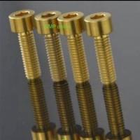 Modif motor/ aksesoris motor mobil/ Baut L 10 2cm Gold   Mur Silver /