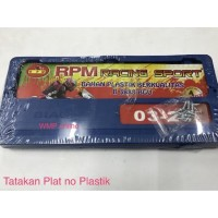 Modif motor/ aksesoris motor mobil/ Tatakan Plat Nomer Biaggi Plastik