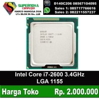 Processor Intel Core i7-2600 3.4GHz LGA 1155 Tray