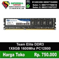 RAM Team Elite 8GB DDR3 1600MHZ 1X8GB