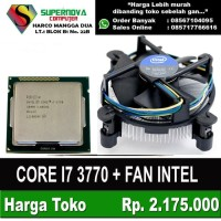 Intel Core I7 3770 3.40ghz Socket 1155 Plus Fan