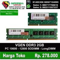 MEMORY PC DAN LAPTOP DDR3 2GB VGEN