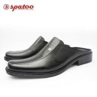 Pantofel Selop - Sandal Fantofel Kerja Kantor Pria Original Kulit - Hitam, 39
