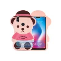 3D Case Vivo V9 softcase 4D Karakter Boneka Teddy Bear v9