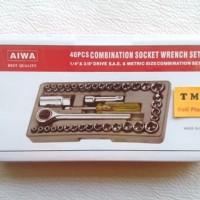 Kunci Sok Socket Set 40 Pcs / Socket Wrench Set
