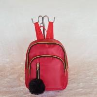 backpack ransel wanita gratis pom pom