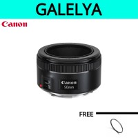lensa canon 50mm f 1:8 STM free uv filter pelindung lensa