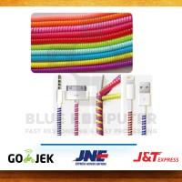 Pelindung Kabel Charger Spiral Protector Data Cable 2 Warna - Warni