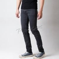 Celana jeans skinny panjang pria - denim pensil skiny fit cowok abu