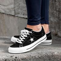 Sepatu Converse One Star Ox Black White Premium Original / Sneakers