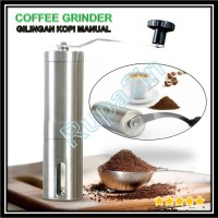 Gilingan Kopi Portable Coffee Grinder Ceramic Burr Manual Stainless